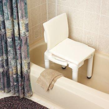"""Foam/Mesh Bath Cushions. 16"""" x 16"""" (41 x 41cm) Shower Chair Cushion"""