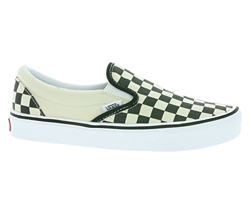 Lite Blanc Baskets Adulte on Vans black Slip Mixte checkerboard Plus Basses White classic BxFTaO