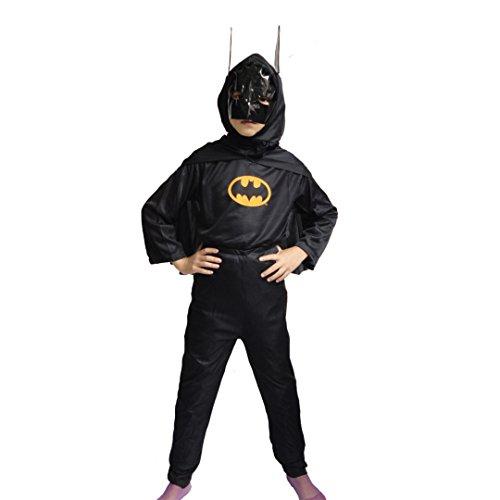 Dress Fancy Batman Kids (Halloween Superhero Costumes for Boys Batman Child's Fancy Dress Party)