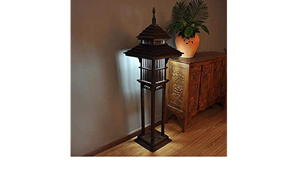 moontang lámpara de pie de madera Antigua, Salón, Dormitorio ...