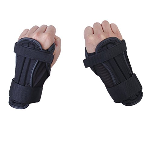 Foxnovo Kids Ski Protective Glove Sport Wrist Guards support Pads A pair- Size S (Black)