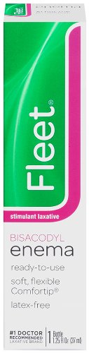 Fleet Bisacodyl Enema - Fleet Stimulated Laxative Bisacodyl Enema | 1.25 oz | Fast Constipation Relief in Minutes
