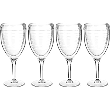 Tervis 9 oz. 4-pc. Clear Wine Glass Set 4 Pc Set