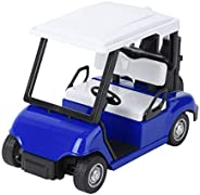 Abaodam Golf Cart Model Die- cast Metal Mini Golf Cart Toy 1: 20 Scale Pull Back Car Vehicle Action Toy Miniat