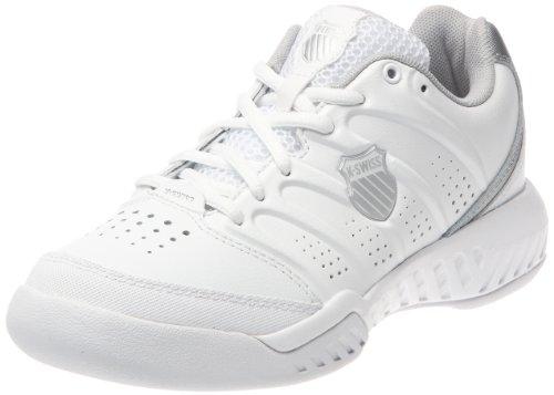 K-Swiss Women's Ultrascendor II Tennis Shoe,White/Silver,6.5 M US