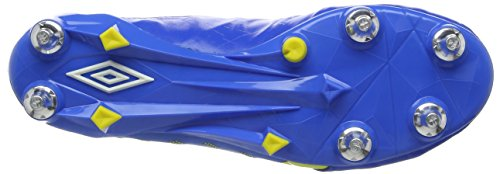 Umbro Medusæ II Pro SG, Scarpe da Calcio Uomo Blu (Electric Blue / White / Blazing Yellow)