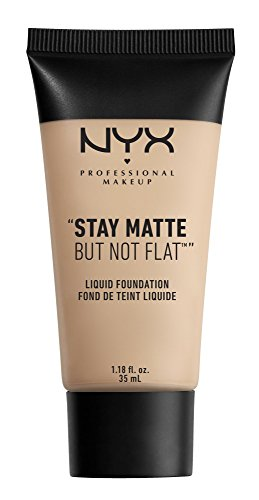NYX PROFESSIONAL MAKEUP Stay Matte but not Flat Liquid Foundation, Porcelain, 1.18 Fluid (Liquid Matte Concealer)