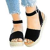 Women Ankle Wedge Sandals, NDGDA Ladies Wedge