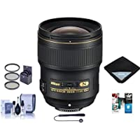 Nikon 28mm f/1.4E AF-S NIKKOR Lens - U.S.A. Warranty - Bundle With 77mm Filter Kit, Cleaning Kit, Lens Wrap 15x15, Capleash II, Software Package