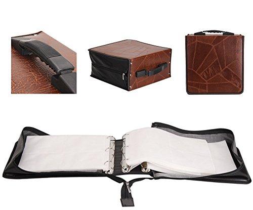 400 Disc CD DVD VCD Holder Case Storage Wallet Organizer PU Leather Leaves Bag