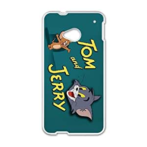 Unique Design Cases Yhiwi HTC One M7 Cell Phone Case Cartoon Tom and Jerry Printed Cover Protector