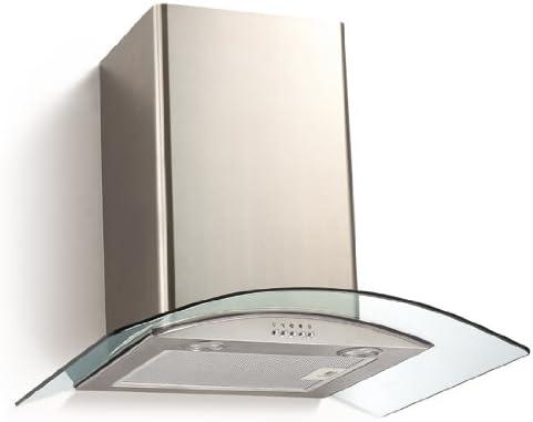 Jago - DAH01 - Campana extractora de humo de vidrio - Aprox. 60 x 50 x 60 cm: Amazon.es: Hogar