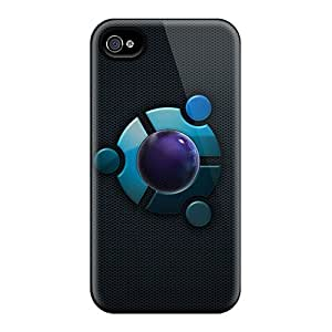 FPeoUgT4619MOiDc Egfox Ubuntu Blue By Eg Art Awesome High Quality Iphone 4/4s Case Skin
