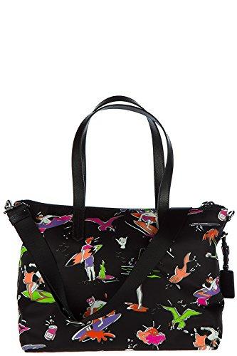Nylon sac Prada femme à en surf main noir 4qXzA