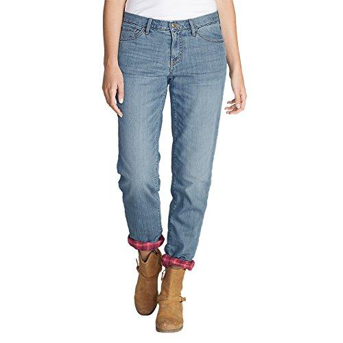 Eddie Bauer Women's Boyfriend Flannel-Lined Jeans, Summit Petite - Lined Jeans Petite