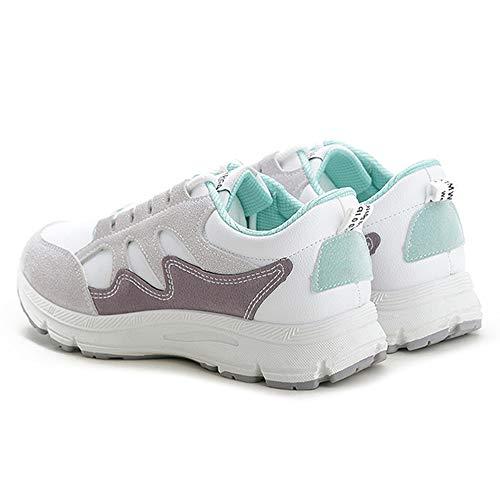 Ginnastica Sports Lefu Da Fitness Sneaker Scarpe Donna Verde Basse wga6x