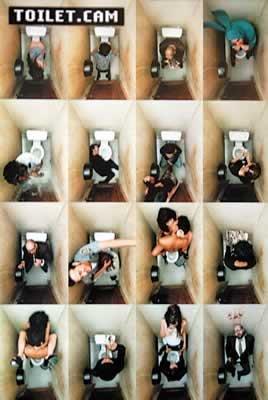 Toilet Cam Bathroom Scenes Art Poster Print