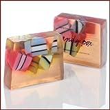 Candy Box Seife 100g mit Bergamott-, Süsse Orange Öl verpackt von Bomb Cosmetics