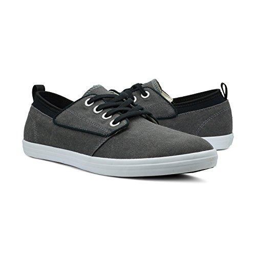 Burnetie Heren Zwarte Basic Lage Sneaker
