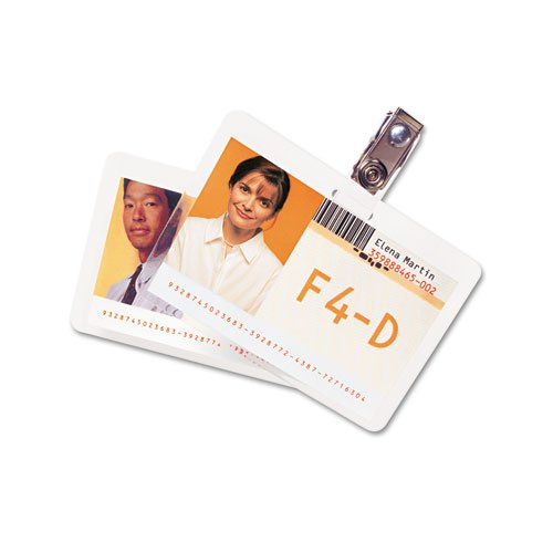 GBC HeatSeal. ID Badge Prepunched Laminating Pouches - 2.56