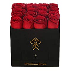 HTML: Premium Roses - Roses with Longevity! These breathtaking, real preserved roses will add 365 days of elegance to any room! We choose only the most beautiful flowers for our arrangements. ou will receive a stunning box bouquet that will i...