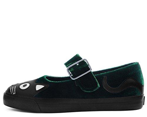 Terciopelo Esmeralda Kitty Mary Jane Vlk Zapatilla De Deporte De T.U.K. Shoes Mujer EU41 / UKW8