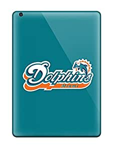Rugged Skin Case Cover For Ipad Air- Eco-friendly Packaging(miami Dolphins)
