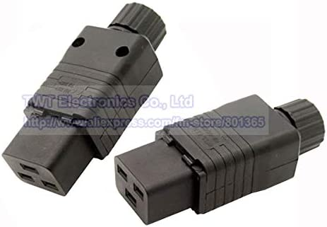 Gimax IEC 320 C19 Socket AC Power Cord//Cable Connector,16A//20A Rewirable,20pcs,