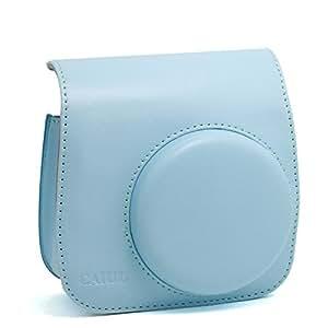 CAIUL Vintage PU Leather fuji mini case for Fujifilm Instax Mini 8 Case bag -----Blue