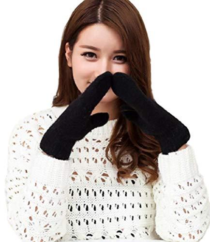 [マジックショップス] ミトン グローブ レディース ニット 手袋 暖かい 保温 防寒 シンプル ふんわり 大きいサイズ