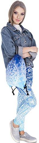 Bag 3D Gym Shoulder Rucksack Backpack Print Bags Mandala Ababalaya Drawstring Blue 8dCw44q