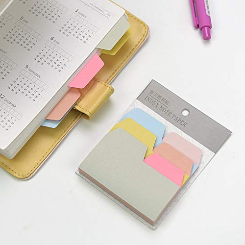 - Juner 90 Sheets/Pad Colourful Index Sticky Note Writable Labels Tags Big Deal Memo Convenient Bookmark Time Planner School and Office Supplies Stationery (6 Colors)