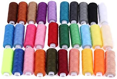 30Pcs Colorful 250 Yards machine embroidery thread sewing threads cotton thread
