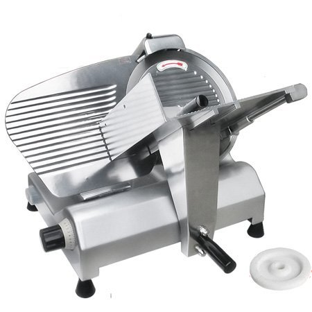 "23 L X21 W X18 H Inch Professional 12"" Stainless Steel Blade 270w 3/8hp Kitchen Electric Food Slicer 0-17 Mm Cut Size for Meat Market Chopper Butcher Cutter Equipment 12 Meat Chopper"