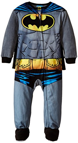 Batman Little Boys' Batman Blanket Sleeper with Cape, Grey, 3T -