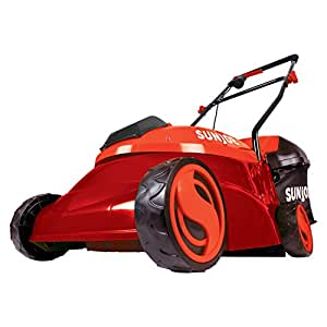 Sun Joe MJ401C-XR-RED Cordless Lawn Mower | 14 inch - 28V - 5 Ah | Brushless Motor, Red