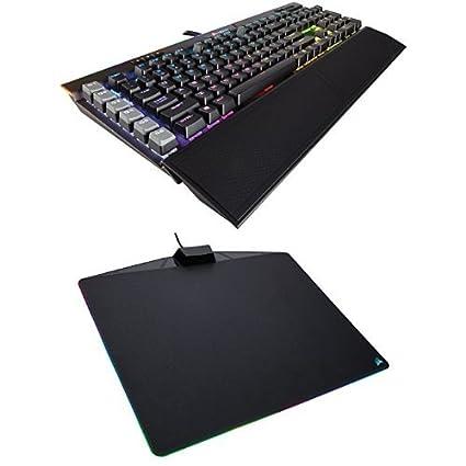 Corsair Gaming K95 RGB PLATINUM Mechanical Keyboard, Cherry MX Speed,  Gunmetal (CH-9127114-NA) and Corsair Gaming MM800 RGB Polaris Mouse Pad