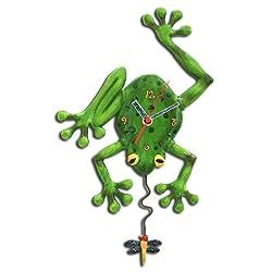 Allen Designs Frog Fly Pendulum Clock