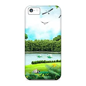 Protective Cases With Fashion Design For Iphone 5c (glory Of A Summer Day)