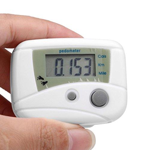 Perman Digital LCD Run Step Mini Pedometer Calorie Walking Distance Counter (Mini Pedometer)