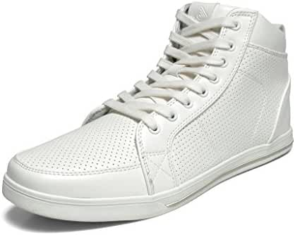 DREAM PAIRS 160309-M New Men's Casual Light Weight High Top Laced Up Side Zipper Sneakers Shoes