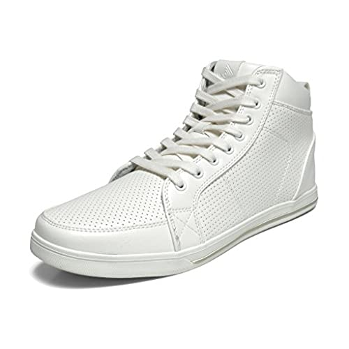 Wanted Shoes Womens Perry Hi Top Fashion Sneaker Shoe White Size 8 M US