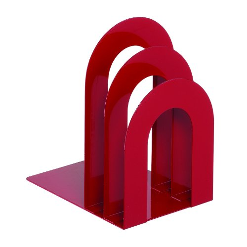 STEELMASTER Deluxe Bookend Sorter, Curved, 8.06 x 7 x 5 Inches, Red (241873R507)