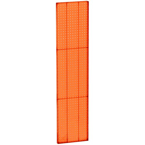 (Azar 771360-ORG Pegboard 1-Sided Wall Panel, Orange Translucent Color, 2-Pack)