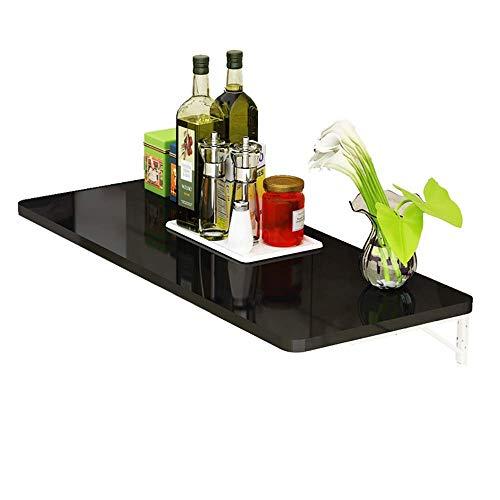 Mesa plegable Mesa plegable, montado en la pared-Drop-Hoja Tabla preparacion en la cocina de pared escritorio de la computadora de escritorio de pared a pared (color, blanco, tamano, 50 x 30 cm), Blan