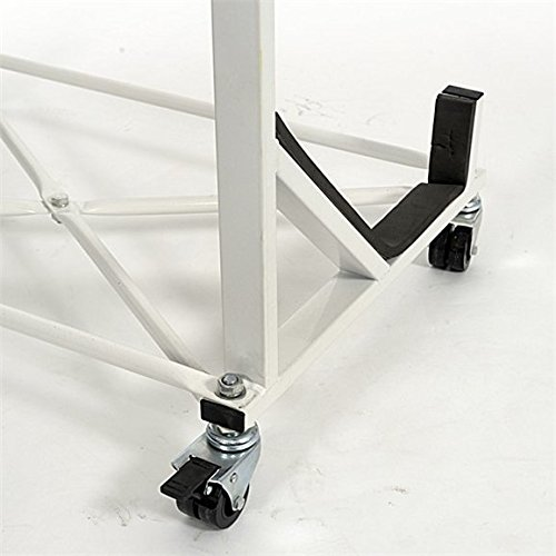 UK Custom Covers HTS050 Powder Coated Hardtop Stand with Locking Wheels /& Securing Strap