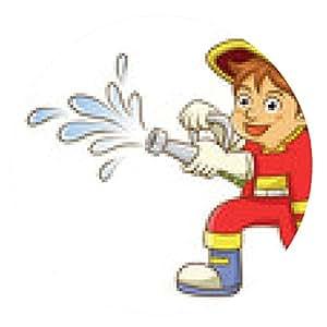 alfombrilla de ratón bombero - ronda - 20cm