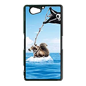 Energetic Style Cartoon The Ice Age Cover Case Snap on Sony Xperia Z2 The Ice Age Pattern Phone Shell