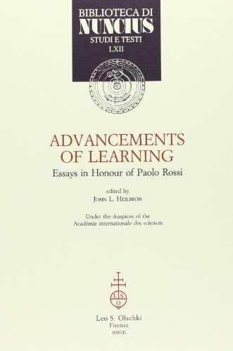 Advancements of Learning. Essays in Honour of Paolo Rossi