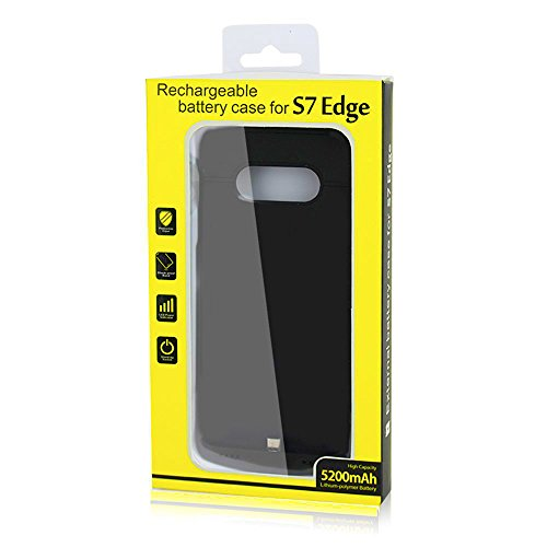 Galaxy S7 Edge Battery instance using Kick stand up 5200mAh aid dual Charging super narrow Rechargeable External Battery Backup Charger instance Protective Charging capability Cover Pack for Samsung Galaxy S7 Edge Battery Charger Cases
